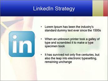Slim woman measuring her leg PowerPoint Template - Slide 12