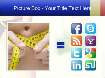 Slim woman measuring her leg PowerPoint Template - Slide 21