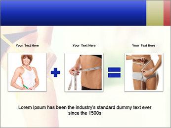 Slim woman measuring her leg PowerPoint Template - Slide 22