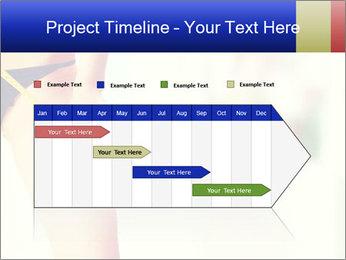 Slim woman measuring her leg PowerPoint Template - Slide 25