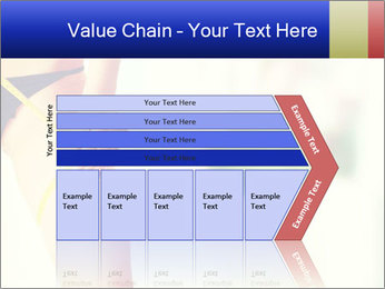 Slim woman measuring her leg PowerPoint Template - Slide 27