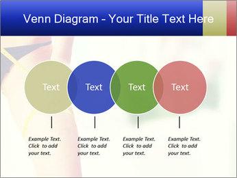 Slim woman measuring her leg PowerPoint Template - Slide 32