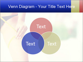 Slim woman measuring her leg PowerPoint Template - Slide 33