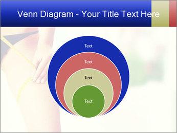 Slim woman measuring her leg PowerPoint Template - Slide 34