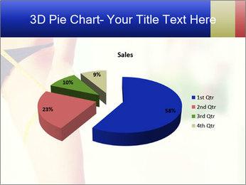 Slim woman measuring her leg PowerPoint Template - Slide 35