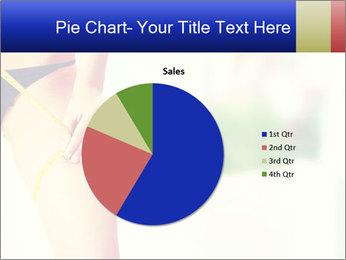 Slim woman measuring her leg PowerPoint Template - Slide 36