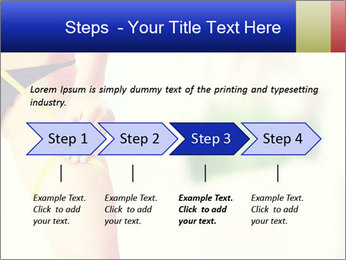 Slim woman measuring her leg PowerPoint Template - Slide 4