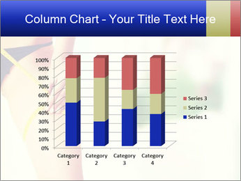Slim woman measuring her leg PowerPoint Template - Slide 50