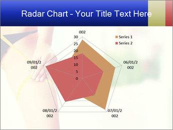 Slim woman measuring her leg PowerPoint Template - Slide 51