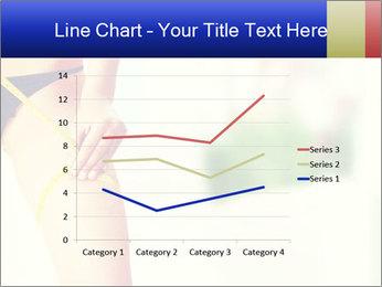 Slim woman measuring her leg PowerPoint Template - Slide 54