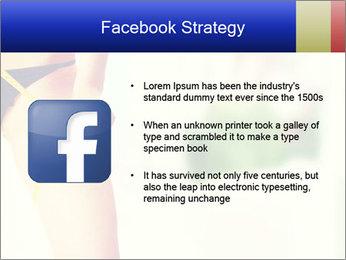 Slim woman measuring her leg PowerPoint Template - Slide 6
