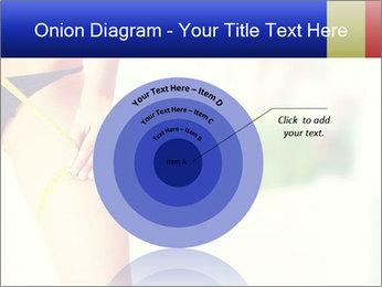 Slim woman measuring her leg PowerPoint Template - Slide 61