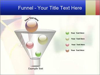 Slim woman measuring her leg PowerPoint Template - Slide 63