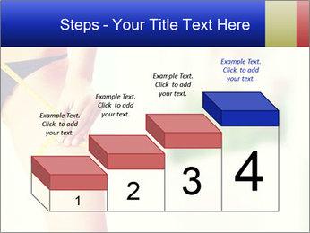 Slim woman measuring her leg PowerPoint Template - Slide 64