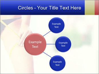 Slim woman measuring her leg PowerPoint Template - Slide 79