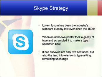 Slim woman measuring her leg PowerPoint Template - Slide 8