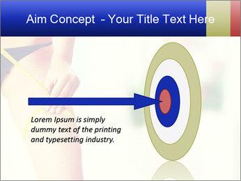 Slim woman measuring her leg PowerPoint Template - Slide 83
