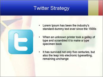 Slim woman measuring her leg PowerPoint Template - Slide 9