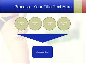 Slim woman measuring her leg PowerPoint Template - Slide 93
