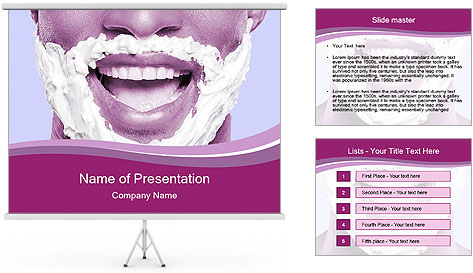Portrait of playful African man with shaving cream PowerPoint Template