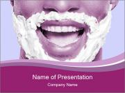 Portrait of playful African man with shaving cream PowerPoint Templates
