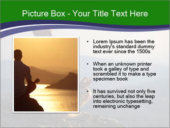 Man meditating on a rock PowerPoint Templates - Slide 13