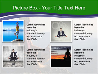 Man meditating on a rock PowerPoint Templates - Slide 14