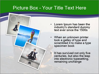 Man meditating on a rock PowerPoint Templates - Slide 17