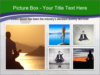 Man meditating on a rock PowerPoint Templates - Slide 19