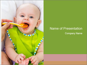 Baby feeding PowerPoint Template