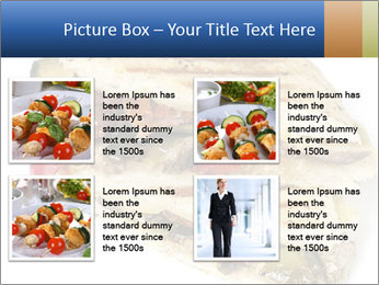 Healthy vegetable panini or focaccia PowerPoint Templates - Slide 14
