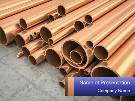 An image of some nice copper pipes PowerPoint Templates