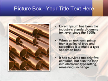 An image of some nice copper pipes PowerPoint Template - Slide 13