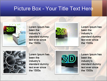 An image of some nice copper pipes PowerPoint Templates - Slide 14