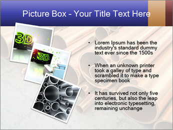 An image of some nice copper pipes PowerPoint Template - Slide 17