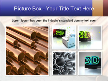 An image of some nice copper pipes PowerPoint Template - Slide 19