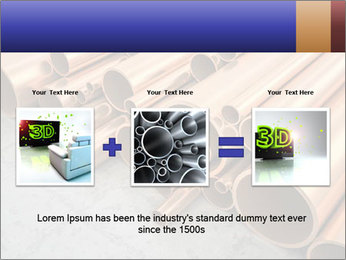 An image of some nice copper pipes PowerPoint Template - Slide 22