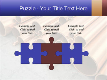 An image of some nice copper pipes PowerPoint Template - Slide 42