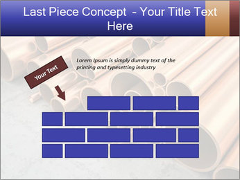 An image of some nice copper pipes PowerPoint Template - Slide 46