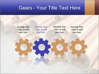 An image of some nice copper pipes PowerPoint Template - Slide 48