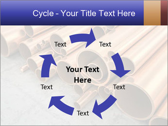 An image of some nice copper pipes PowerPoint Template - Slide 62