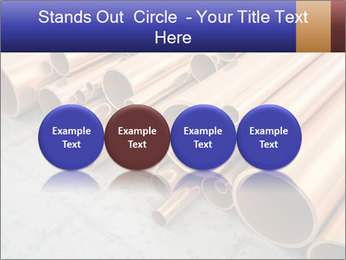 An image of some nice copper pipes PowerPoint Template - Slide 76