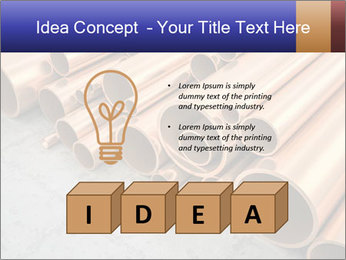 An image of some nice copper pipes PowerPoint Template - Slide 80