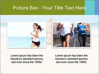 Fitness woman working out at the beach PowerPoint Templates - Slide 18