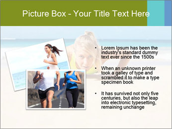 Fitness woman working out at the beach PowerPoint Templates - Slide 20