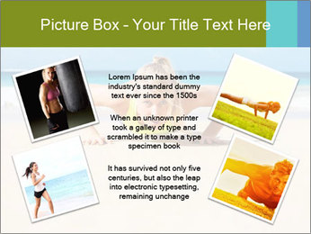 Fitness woman working out at the beach PowerPoint Templates - Slide 24