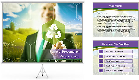 Clean technology PowerPoint Template