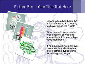 Sketch, comics style female PowerPoint Template - Slide 17