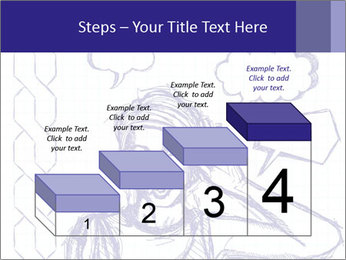 Sketch, comics style female PowerPoint Template - Slide 64