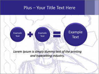 Sketch, comics style female PowerPoint Template - Slide 75